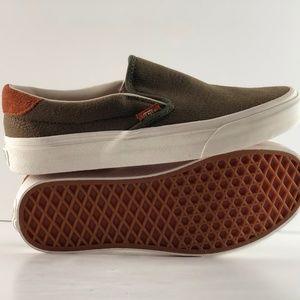 94118612062f Vans Shoes - Vans Slip-on 59 Flannel Dusty Olive Skate Shoes.